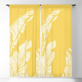 Banana Leaves on Yellow #society6 #decor #buyart Blackout Curtain