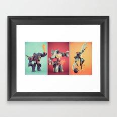 Dinobots Framed Art Print