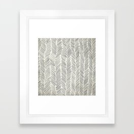 Herringbone Black on Cream Framed Art Print