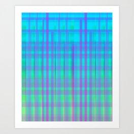 """Neon Plaid"" Art Print"