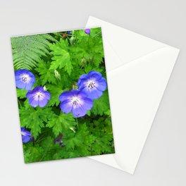 Blue cranesbill Stationery Cards