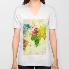 Colors of Map Unisex V-Neck