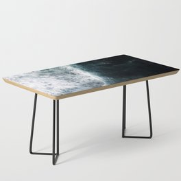 Oceanscape - White and Blue Coffee Table