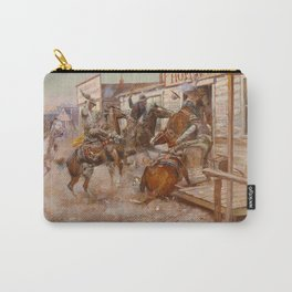 """In Without Knocking"" by Charles M Russell Carry-All Pouch"
