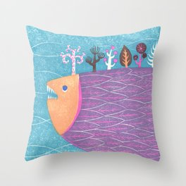 Fish Forest Throw Pillow