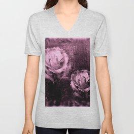 Vintage Rose Illustration Unisex V-Neck