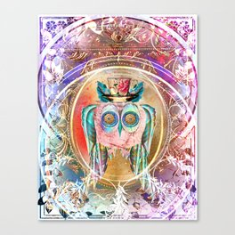 Madhatter Owl Canvas Print