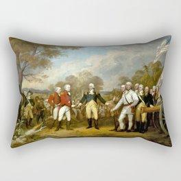 The Surrender of General Burgoyne Rectangular Pillow