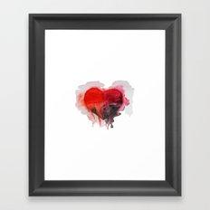 Watercolor heart Framed Art Print