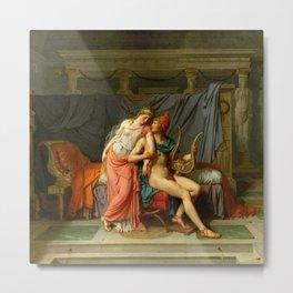 "Jacques-Louis David ""Paris and Helen"" Metal Print"