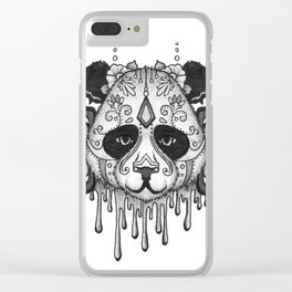 Blacksilver Panda Spirit Clear iPhone Case