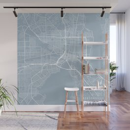Jacksonville Map, USA - Slate Wall Mural
