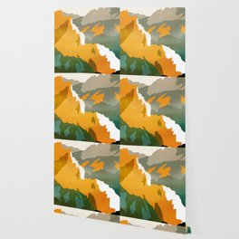 Abstract Mountains II Wallpaper