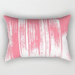 Modern coral white watercolor brushstrokes pattern Rectangular Pillow
