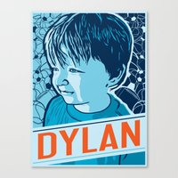 dylan Canvas Prints featuring Dylan by Adam Shortlidge