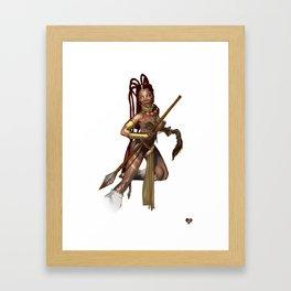 Sundance Warrior Framed Art Print