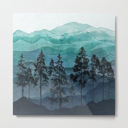 Mountains II Metal Print