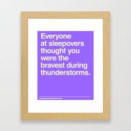 Sleepover Thunderstorms Framed Art Print