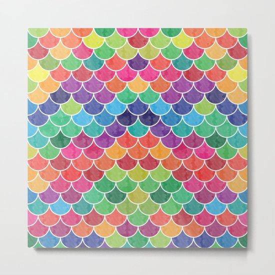 Watercolor Lovely Pattern VVXVI Metal Print