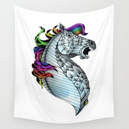 Ornate Color Horse Wall Tapestry