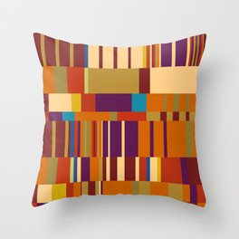 Chopin Prelude (Warm Colours) Throw Pillow