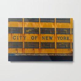 City of New York too Metal Print
