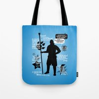 dragon age Tote Bags featuring Dragon Age - Anders by firlachiel