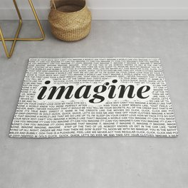 imagine - Ariana - imagination - lyrics - white black Rug