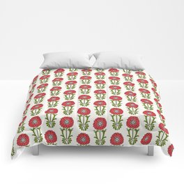 Dot Floral in Red Comforters