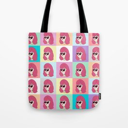Heart-Shaped Glasses Tote Bag