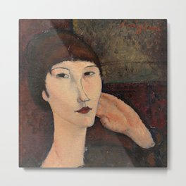 "Amedeo Modigliani ""Adrienne (Woman with Bangs)"" (1916) Metal Print"