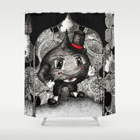 ace Shower Curtains featuring Ace by Anca Chelaru