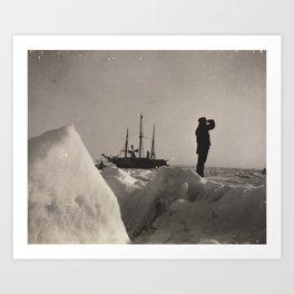 Nansen's Fram North Pole Expedition Art Print