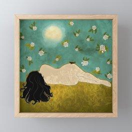 Resting Framed Mini Art Print