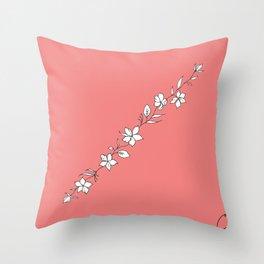 Azalea Floral Cuff Design Throw Pillow