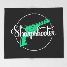 The Sharpshooter Throw Blanket
