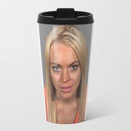 Lindsay Lohan Mug Shot Travel Mug