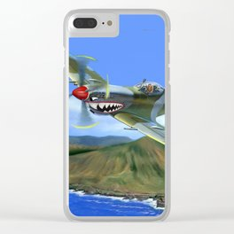 Spitfire Soars Over Hawaii Clear iPhone Case