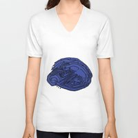 shells V-neck T-shirts featuring Shells by Remedis