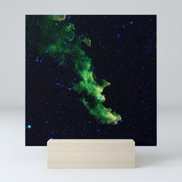 Galaxy: Green Witch's Head Nebula Mini Art Print