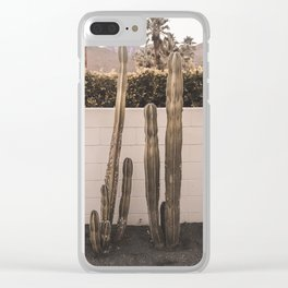 Desert cacti Clear iPhone Case