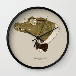 Spectacle(d) Caiman Wall Clock