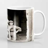 heavy metal Mugs featuring Heavy Metal Boys by Wanker & Wanker