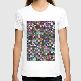 glitch color pattern T-shirt
