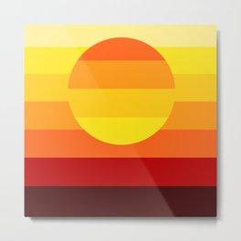 Sunset Stripe Metal Print