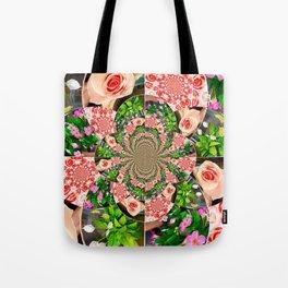 Rose Petal Mandala Tote Bag