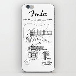 Guitar Tremolo Patent Black iPhone Skin