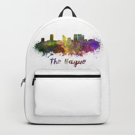 The hague skyline in watercolor Backpack
