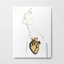 Heart Breath Metal Print