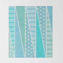 Patterned Triangles Throw Blanket